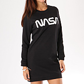 /achat-robes/nasa-robe-sweat-femme-worm-logo-noir-135112.html