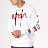 /achat-sweats-capuche/nasa-sweat-capuche-flags-blanc-rouge-135909.html