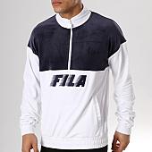 /achat-sweats-col-zippe/fila-sweat-velours-easton-684330-bleu-marine-blanc-136528.html
