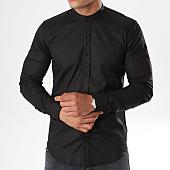 /achat-chemises-manches-longues/lbo-chemise-manches-longues-col-mao-slim-fit-403-noir-136701.html