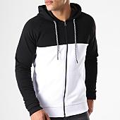 /achat-sweats-zippes-capuche/lbo-sweat-zippe-capuche-bicolore-419-noir-blanc-137067.html