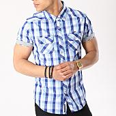 /achat-chemises-manches-courtes/mz72-chemise-manches-courtes-champion-bleu-clair-blanc-bleu-marine-136952.html