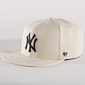/achat-snapbacks/47-brand-casquette-snapback-mlb-new-york-yankees-captain-nshot17wbp-ecru-noir-137129.html