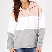 /achat-sweats-capuche/urban-classics-sweat-capuche-femme-tb1843-rose-pale-gris-chine-blanc-137138.html