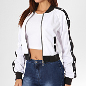 /achat-vestes/urban-classics-veste-zippee-femme-tb1996-blanc-noir-137176.html