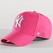 /achat-casquettes-de-baseball/47-brand-casquette-mlb-new-york-yankees-mvp-sp17wbp-rose-137384.html