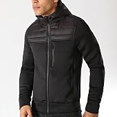 /achat-vestes/crossby-veste-zippee-capuche-symbol-noir-137844.html