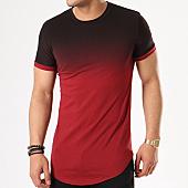/achat-t-shirts-longs-oversize/john-h-tee-shirt-oversize-1859-noir-degrade-bordeaux-137833.html