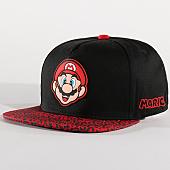 /achat-snapbacks/nintendo-casquette-snapback-animal-print-super-mario-noir-rouge-138069.html