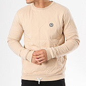 /achat-sweats-col-rond-crewneck/hype-sweat-crewneck-quilted-beige-138174.html