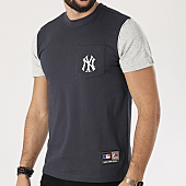 /achat-t-shirts/majestic-athletic-tee-shirt-poche-daley-new-york-yankees-bleu-marine-gris-chine-138465.html