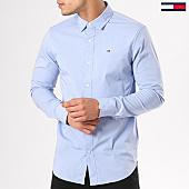 /achat-chemises-manches-longues/tommy-hilfiger-jeans-chemise-manches-longues-tjm-original-stretch-4405-bleu-clair-138280.html