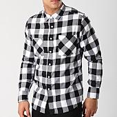 /achat-chemises-manches-longues/urban-classics-chemise-manches-longues-tb297-noir-blanc-138540.html