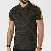 /achat-polos-manches-courtes/brave-soul-polo-manches-courtes-bande-brodee-scott-vert-kaki-camouflage-orange-138853.html