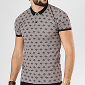 /achat-polos-manches-courtes/classic-series-polo-manches-courtes-2060-taupe-chine-floral-138753.html