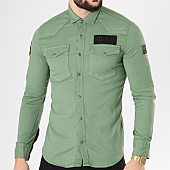 /achat-chemises-manches-longues/classic-series-chemise-manches-longues-patchs-brodes-g136-vert-kaki-138807.html