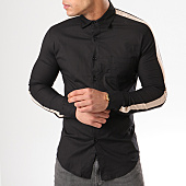 /achat-chemises-manches-longues/ikao-chemise-manches-longues-bande-brodee-f154-noir-ecru-138820.html