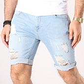 /achat-shorts-jean/siksilk-short-jean-troue-distressed-13008-bleu-denim-138865.html