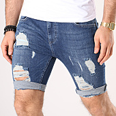 /achat-shorts-jean/siksilk-short-jean-troue-distressed-13007-bleu-denim-138867.html