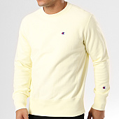 /achat-sweats-col-rond-crewneck/champion-sweat-crewneck-210965-jaune-pastel-139322.html