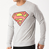 /achat-sweats-col-rond-crewneck/superman-sweat-crewneck-classic-logo-gris-chine-139160.html