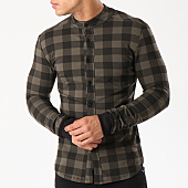/achat-chemises-manches-longues/uniplay-chemise-manches-longues-zip-up-t1260-vert-kaki-noir-139721.html