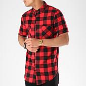 /achat-chemises-manches-courtes/berry-denim-chemise-manches-courtes-oversize-pr022-rouge-carreaux-noir-139926.html