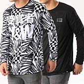 /achat-t-shirts-manches-longues/y-et-w-tee-shirt-manches-longues-reversible-echec-mat-noir-blanc-139908.html