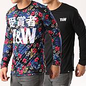 /achat-t-shirts-manches-longues/y-et-w-tee-shirt-manches-longues-reversible-flower-noir-139911.html