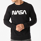 /achat-sweats-col-rond-crewneck/nasa-sweat-crewneck-worm-logo-terry-noir-140063.html