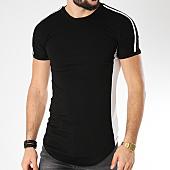/achat-t-shirts-longs-oversize/john-h-tee-shirt-oversize-avec-bandes-1808-noir-blanc-140203.html