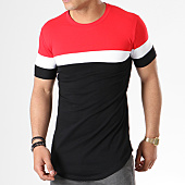 /achat-t-shirts-longs-oversize/john-h-tee-shirt-oversize-tricolore-1836-noir-rouge-blanc-140340.html