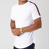/achat-t-shirts-longs-oversize/lbo-tee-shirt-oversize-avec-bandes-noir-et-rouge-454-blanc-140591.html