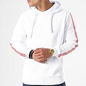 /achat-sweats-capuche/aarhon-sweat-capuche-avec-bandes-18-096-blanc-rouge-140700.html