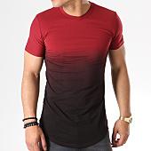 /achat-t-shirts-longs-oversize/john-h-tee-shirt-oversize-143-bordeaux-degrade-noir-140866.html