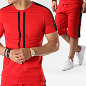 /achat-ensembles-survetement/john-h-ensemble-tee-shirt-oversize-short-jogging-bandes-brodees-619-rouge-noir-140923.html