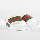 /achat-claquettes-sandales/lbo-claquettes-451-blanche-tricolore-vert-rouge-141065.html
