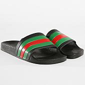 /achat-claquettes-sandales/lbo-claquettes-452-noir-tricolore-vert-rouge-141066.html