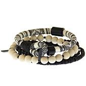 /achat-bracelets/icon-brand-lot-de-4-bracelets-parthian-noir-ecru-141076.html