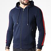 /achat-sweats-zippes-capuche/gov-denim-sweat-zippe-capuche-avec-bandes-183000-bleu-marine-141212.html