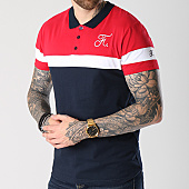 /achat-polos-manches-courtes/final-club-polo-tricolore-avec-broderie-065-bleu-marine-blanc-rouge-141447.html