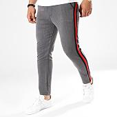 /achat-pantalons-carreaux/frilivin-pantalon-bandes-brodees-1321-gris-anthracite-noir-rouge-141361.html
