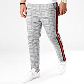 /achat-pantalons-carreaux/frilivin-pantalon-bandes-brodees-1321-gris-141377.html