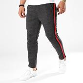 /achat-pantalons-carreaux/frilivin-pantalon-a-carreaux-bandes-brodees-1321-noir-rouge-141379.html