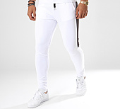 /achat-pantalons-joggings/aarhon-pantalon-jogging-105-avec-bande-blanc-noir-141719.html