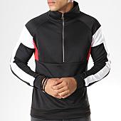 /achat-sweats-col-zippe/aarhon-sweat-demi-zippe-094-tricolore-noir-blanc-rouge-141728.html