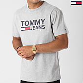 /achat-t-shirts/tommy-hilfiger-jeans-tee-shirt-classics-4837-gris-chine-142037.html