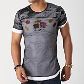 /achat-t-shirts-longs-oversize/ikao-tee-shirt-oversize-f163-noir-blanc-142108.html