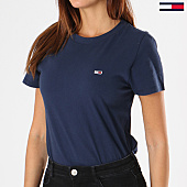 /achat-t-shirts/tommy-hilfiger-jeans-tee-shirt-femme-classic-04681-bleu-marine-142092.html