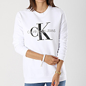 /achat-sweats-col-rond-crewneck/calvin-klein-sweat-crewneck-oversize-femme-monogram-logo-7830-blanc-142334.html
